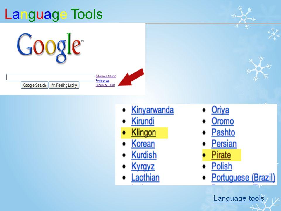 Language Tools Language tools