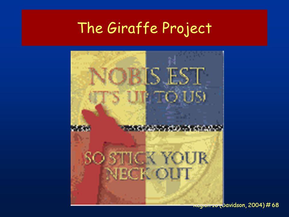 Region 10 (Davidson, 2004) # 68 The Giraffe Project