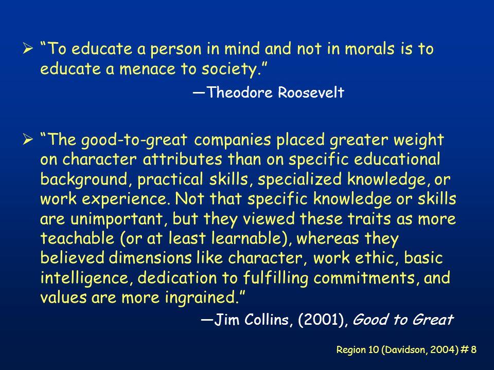 Region 10 (Davidson, 2004) # 39 Why Be Good.