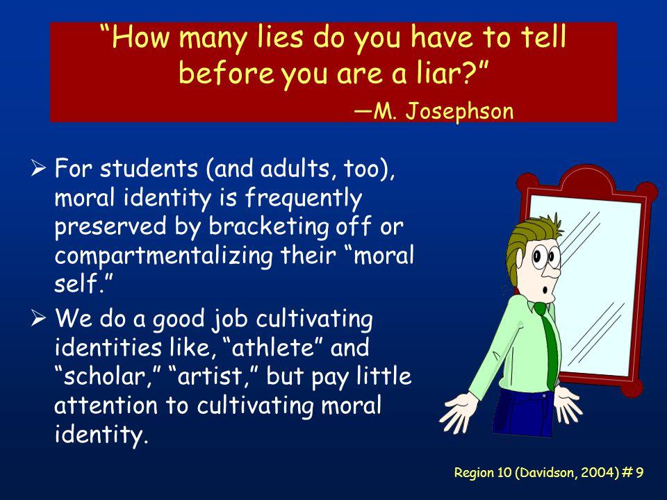 Region 10 (Davidson, 2004) # 40 Principle 7 Character education should strive to develop students ' self-motivation.