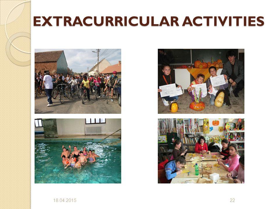 EXTRACURRICULAR ACTIVITIES 18.04.201522