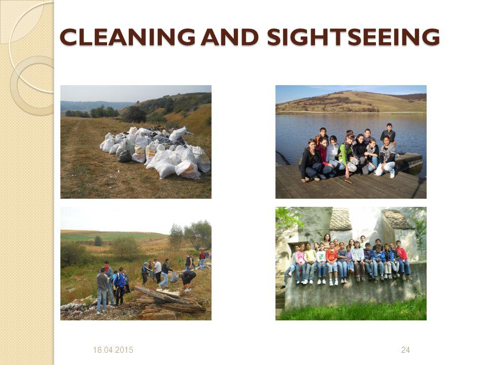 CLEANING AND SIGHTSEEING CLEANING AND SIGHTSEEING 18.04.201524