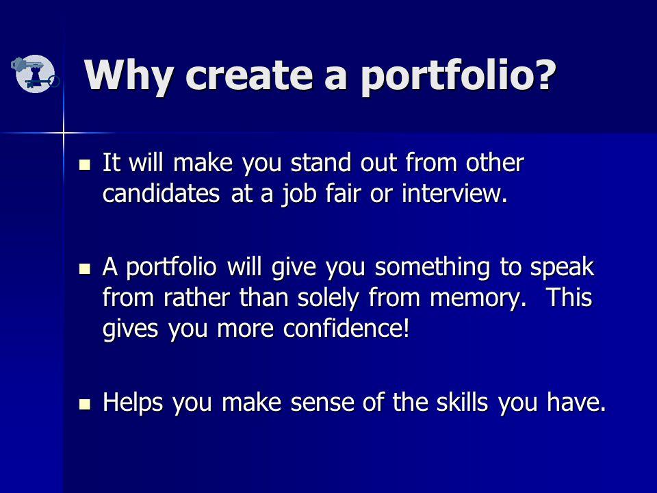Why create a portfolio.