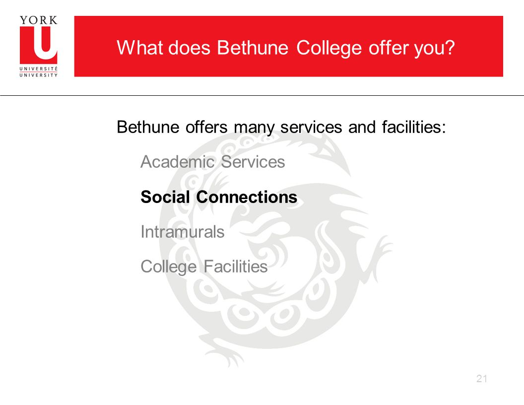 What does Bethune College offer you.