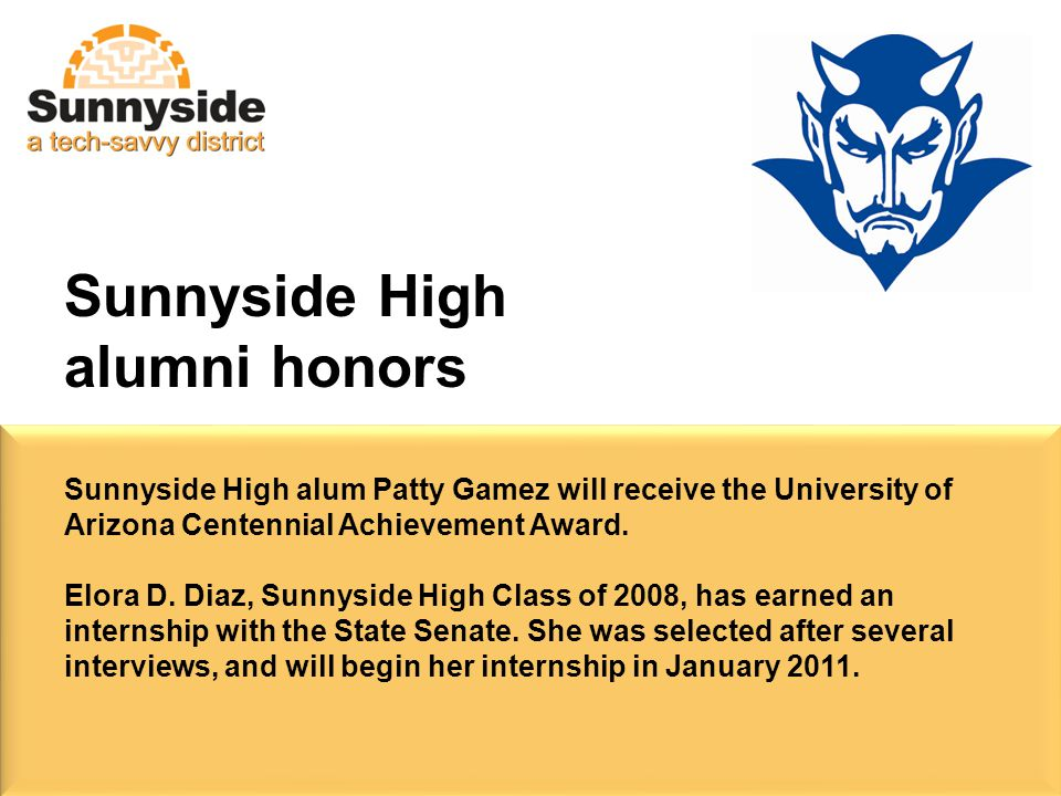 Sunnyside High alum Patty Gamez will receive the University of Arizona Centennial Achievement Award.