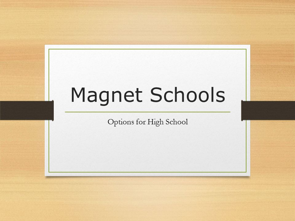 Magnet Schools EPISD offers a wide variety of magnets to its high school students.