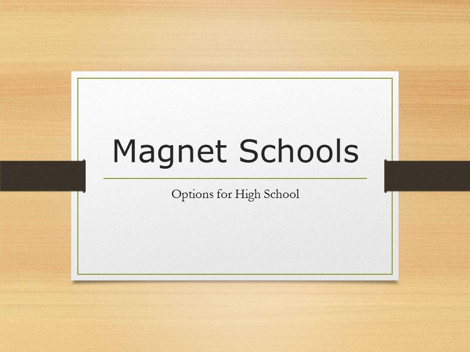 Magnet Schools Options for High School