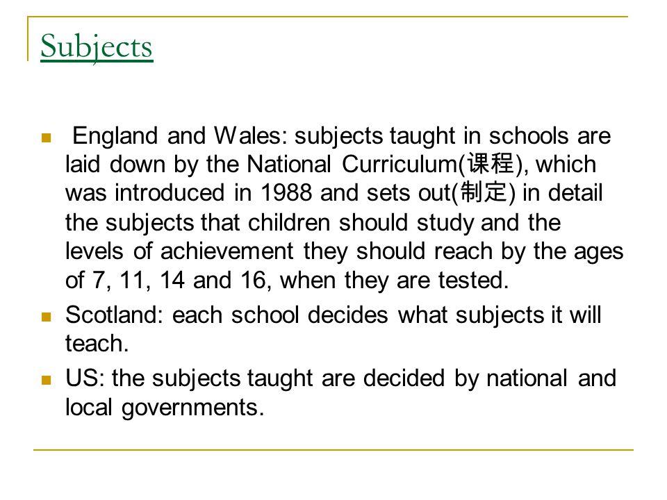 Compulsory Education British: 5-16 America: 6-16/18