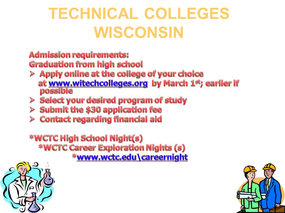 TECHNICAL COLLEGES WISCONSIN