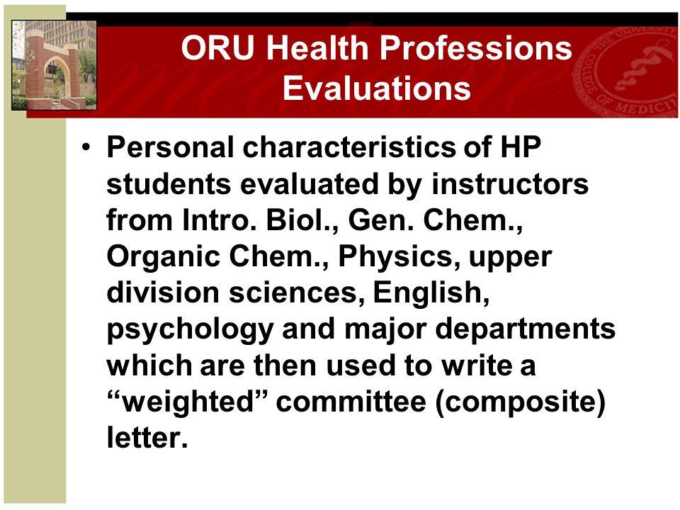 ORU Health Professions