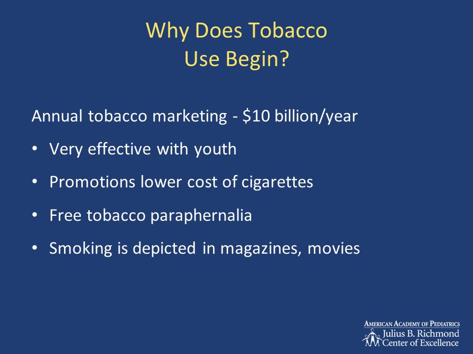 Why Does Tobacco Use Begin.