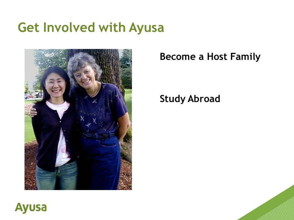 Become a Host Family Study Abroad Get Involved with Ayusa