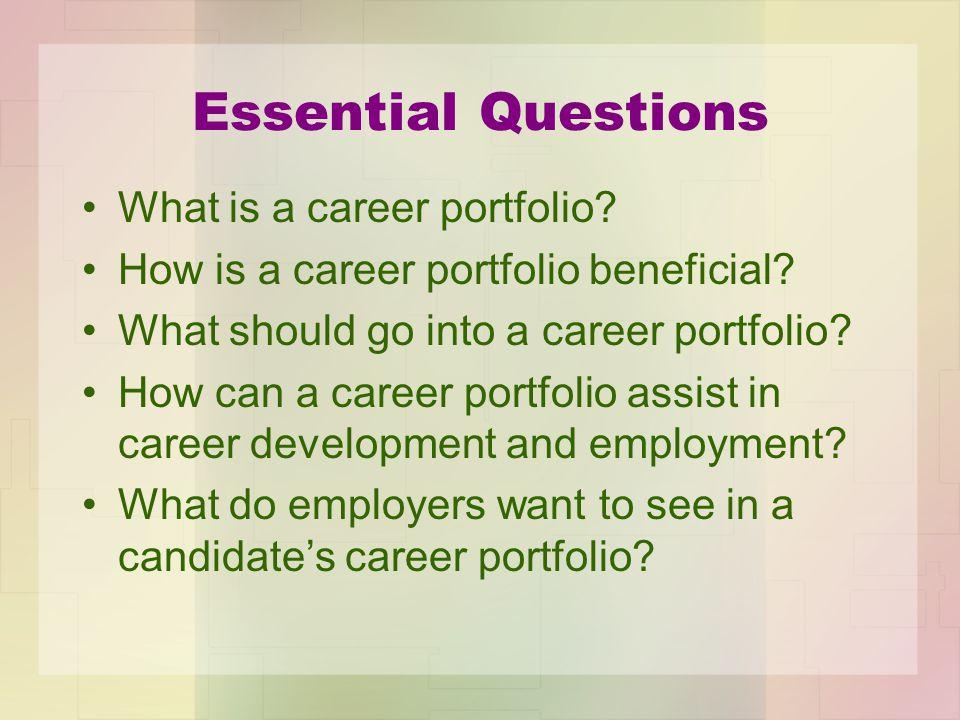 What is a Career portfolio.