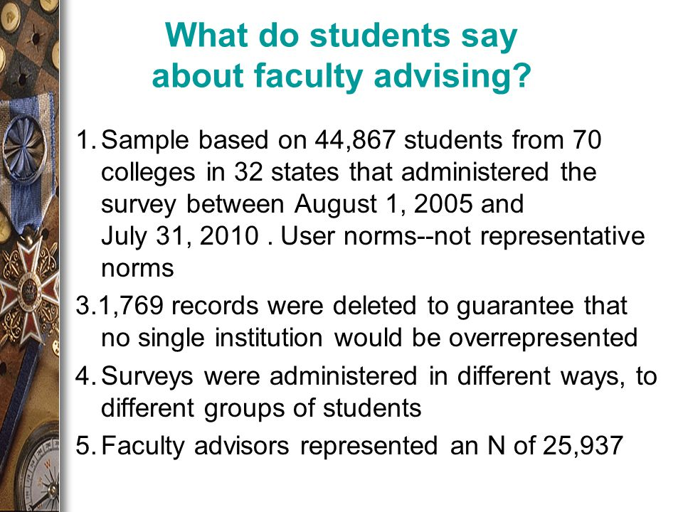 What do students say about faculty advising.