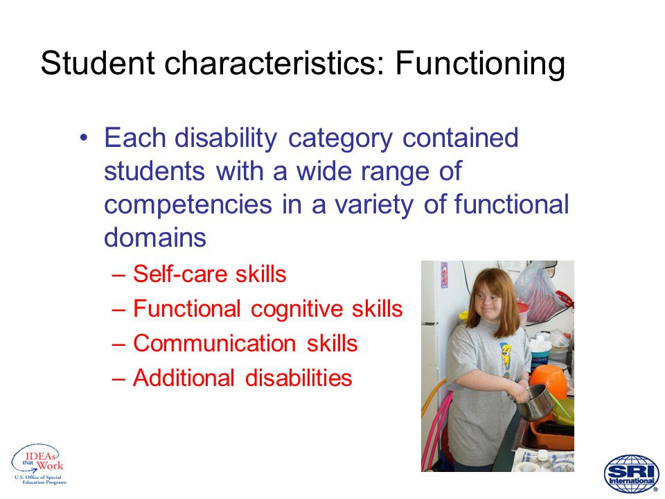 Reading comprehension scores of students with disabilities Source: SEELS Wave 1 Direct Assessment, 2001