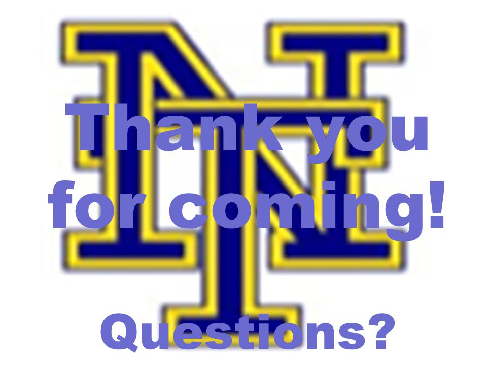 Thank you for coming! Questions?