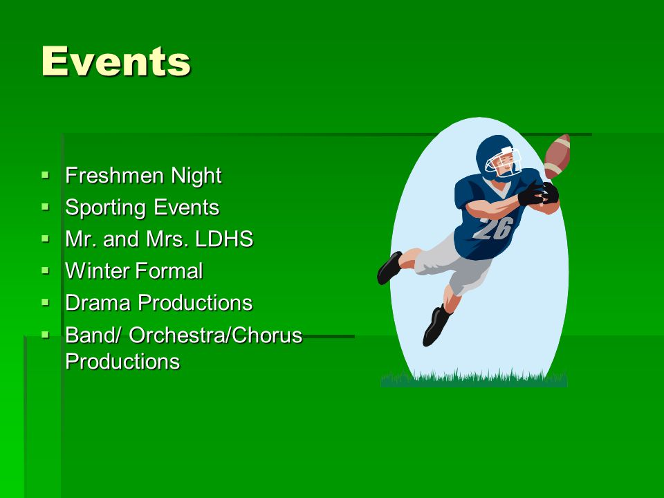 Events  Freshmen Night  Sporting Events  Mr.and Mrs.