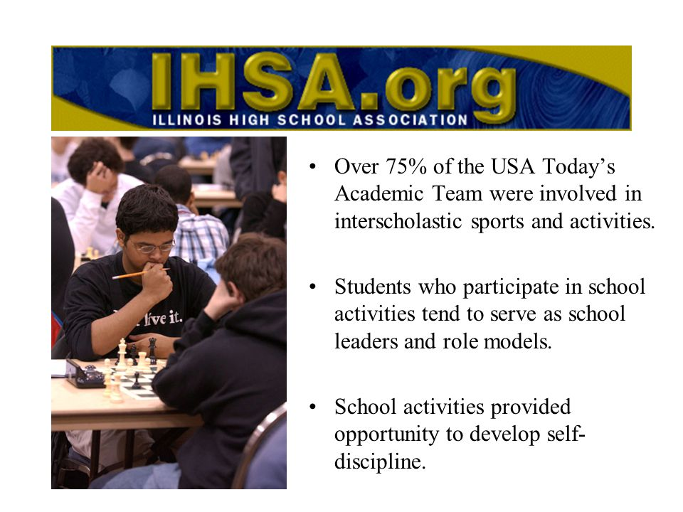 Schools can enter any IHSA activity through the Schools Center at IHSA.org Nov.