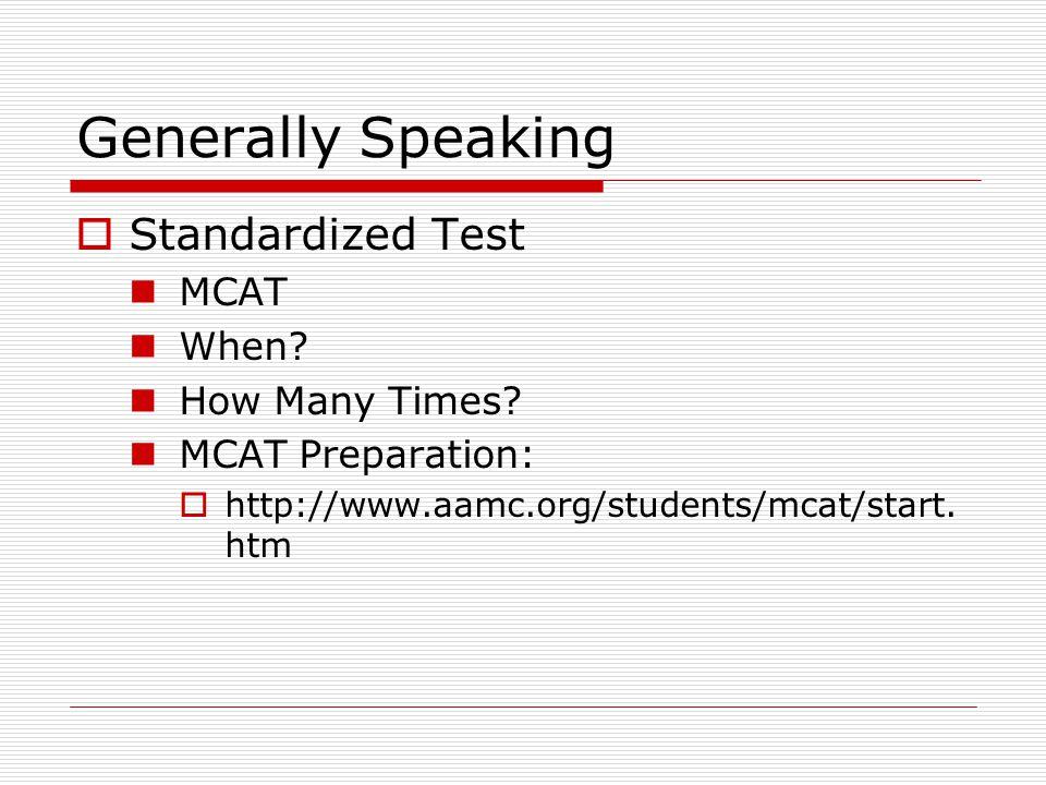 Generally Speaking  Exposure to Health Field High School vs.