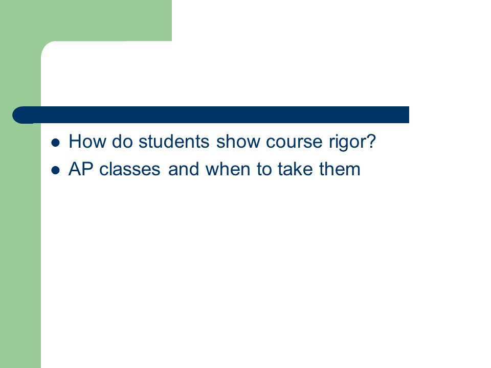 AP classes and when to take them