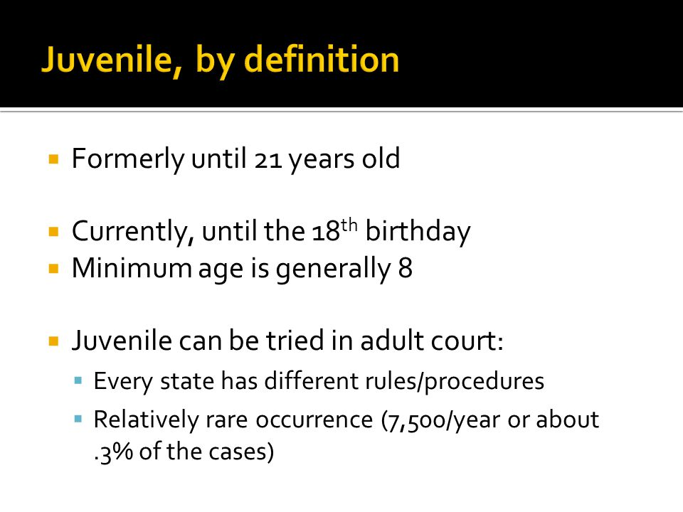 In re Gault: juvenile court proceedings must possess the elements of basic fundamental fairness; juveniles have the right:  to a proper hearing  to advance notification of that hearing and its purpose  to be present at the hearing  to confront/cross examine the accuser  to be represented by legal counsel at the hearing  to present evidence  against self-incrimination  to a formal ruling based on information presented in court  to an appeal