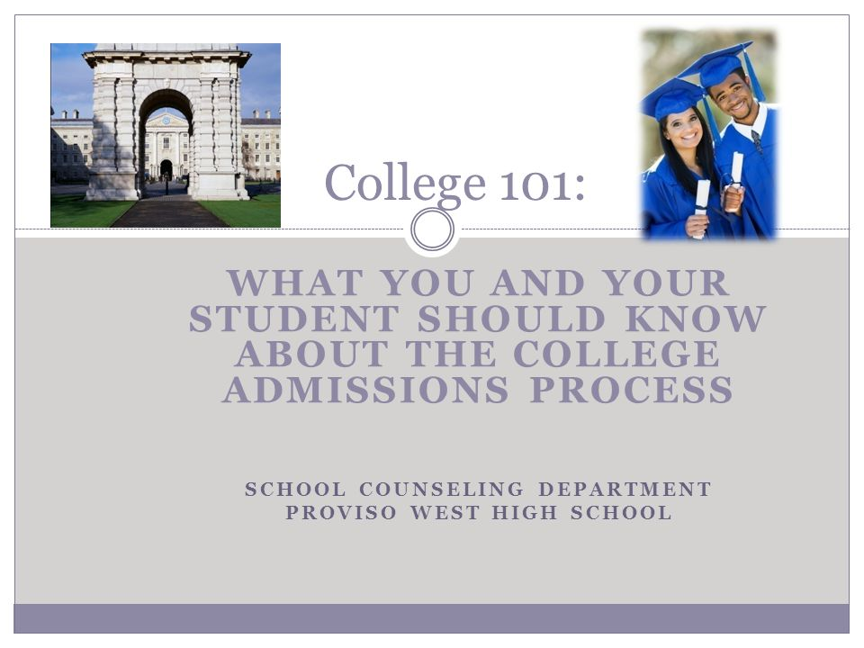 Simplify the College Planning Process College opportunities exist for everyone.