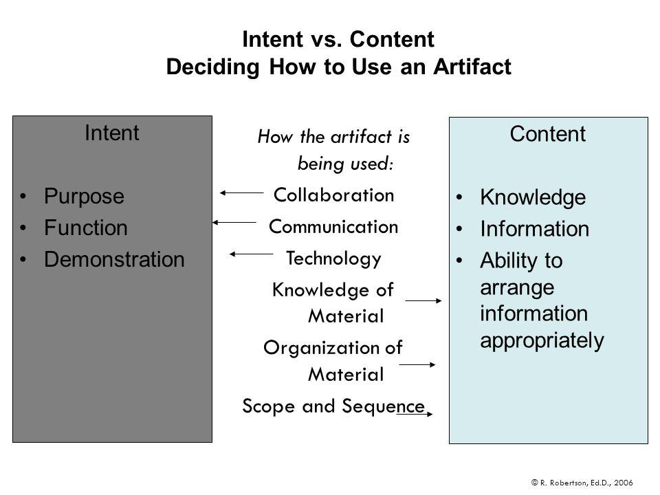 Intent vs.