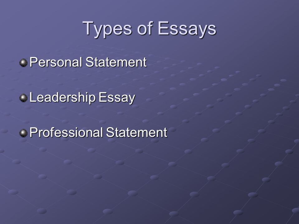 college essay writing tips and techniques getting started ppt  4 types of essays personal statement leadership essay professional statement