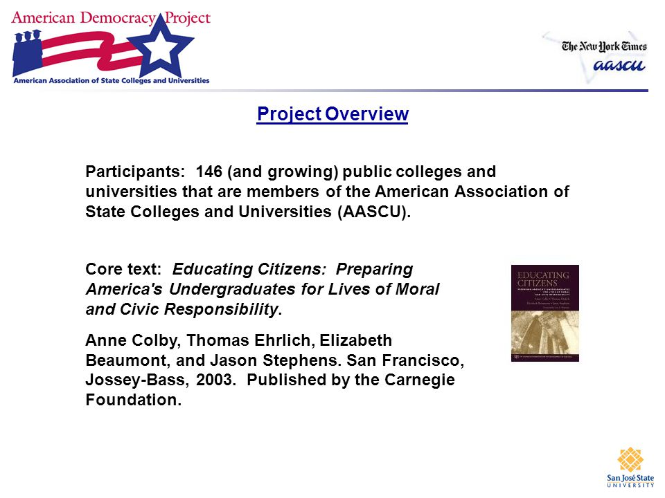 Project Sponsors American Association of State Colleges and Universities