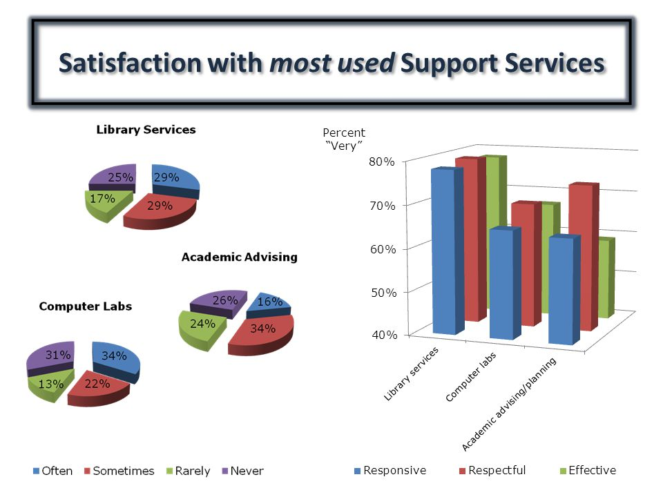 Satisfaction with most used Support Services