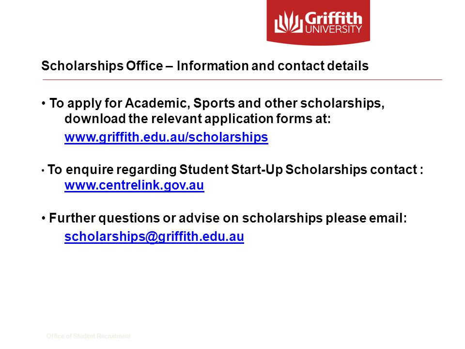 Office of Student Recruitment Questions David Attenborough Scholarships and Prizes Officer
