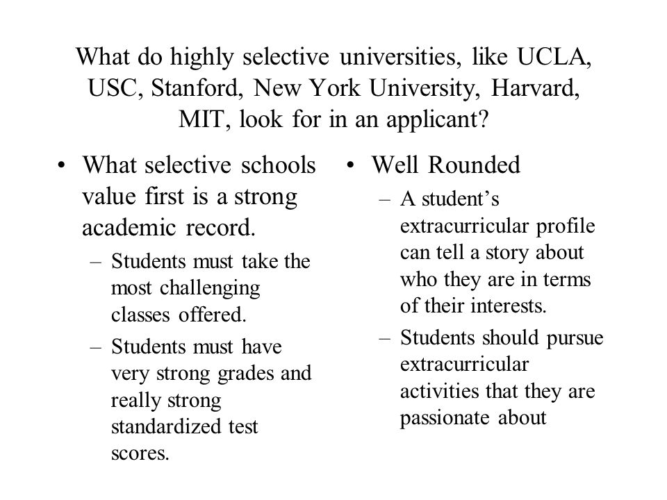 Does USC (California) look at the IB program?