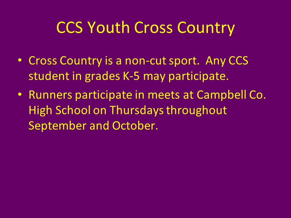 CCS Youth Track