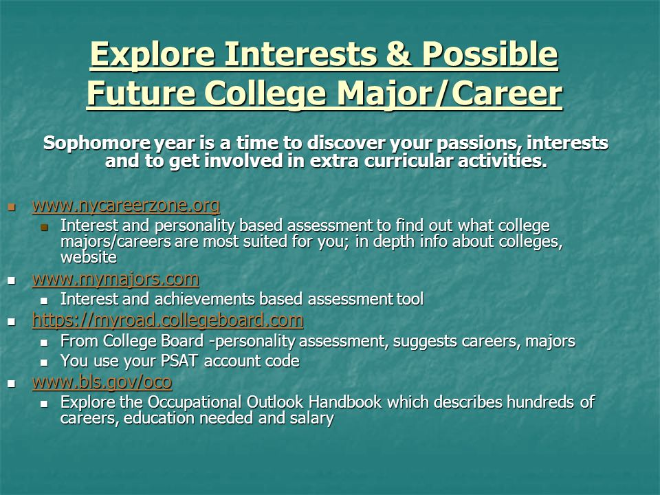 Naviance Naviance is a Web-Based Research and Planning Tool for College Go to the Bronx Science homepage or: www.connection.naviance.com Go to the Bronx Science homepage or: www.connection.naviance.com www.connection.naviance.com My Personality – Do What You Are My Personality – Do What You Are Assessment of careers and college majors that fit your personality Assessment of careers and college majors that fit your personality Career and College Search Career and College Search Resume – Start drafting your resume now in Naviance so it is complete by senior year Resume – Start drafting your resume now in Naviance so it is complete by senior year