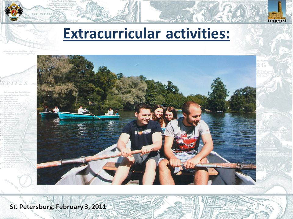 Extracurricular activities: St. Petersburg. February 3, 2011