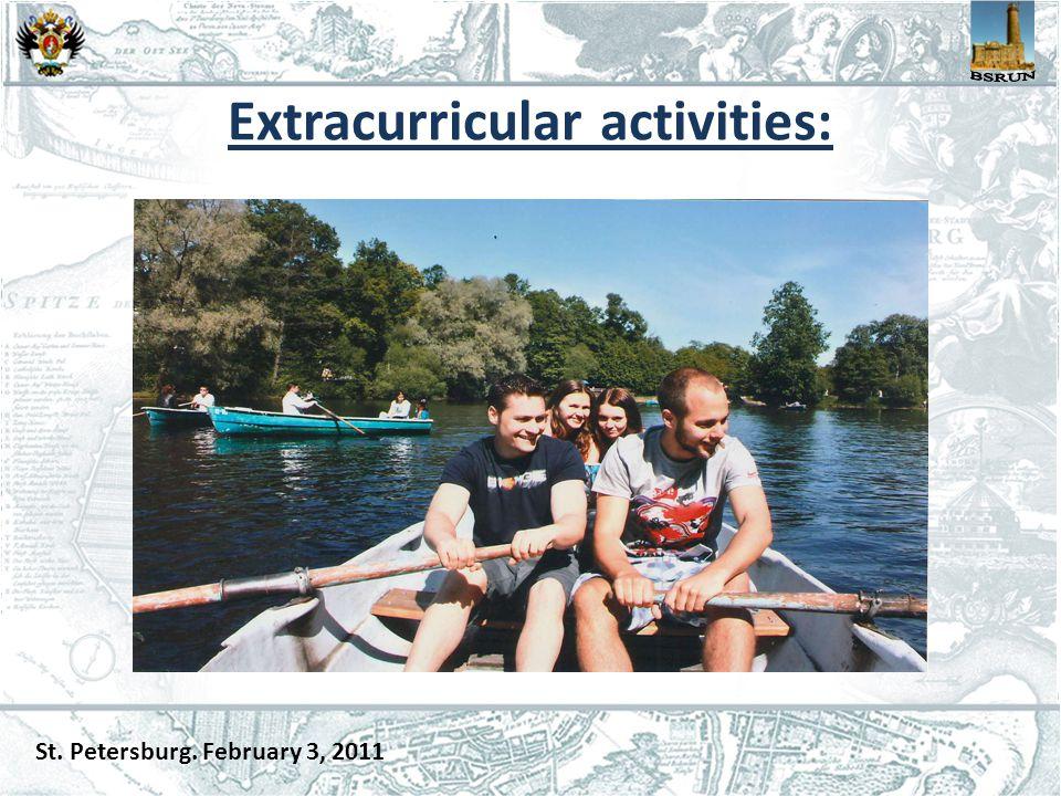Extracurricular activities: St. Petersburg. February 3, 2011