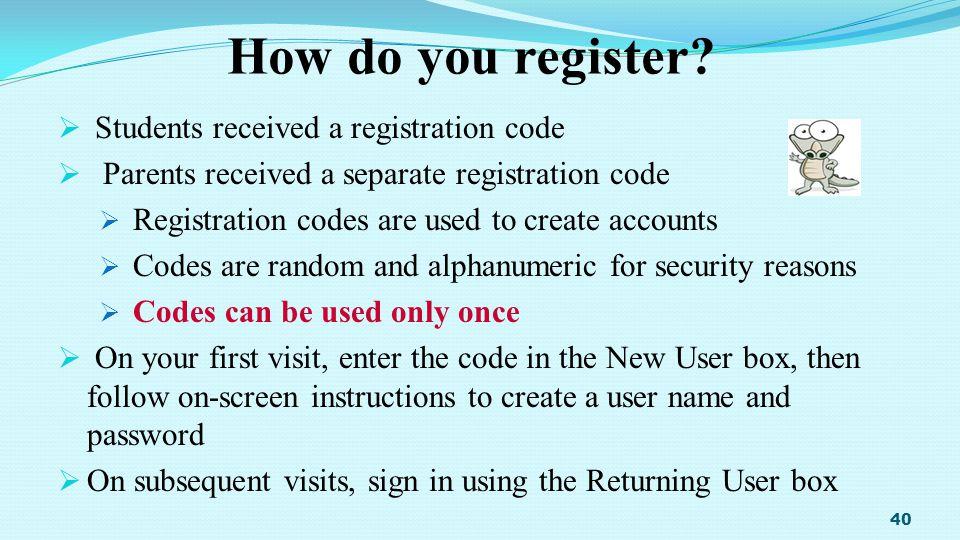 How do you register.