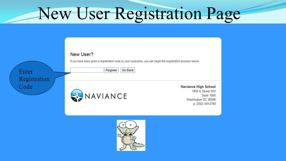 New User Registration Page 42 Enter Registration Code