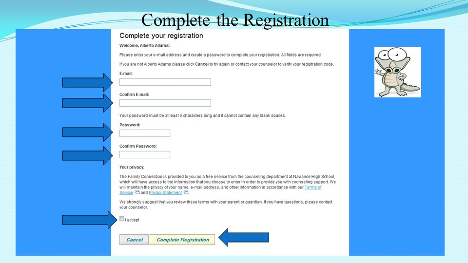 43 Complete the Registration