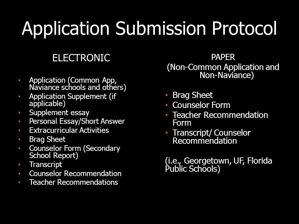 ELECTRONIC SUBMISSION For all electronic submissions, students must set up an individual appointment with Mr.