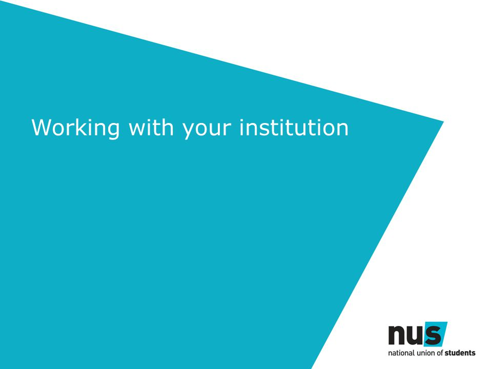 Working with your institution