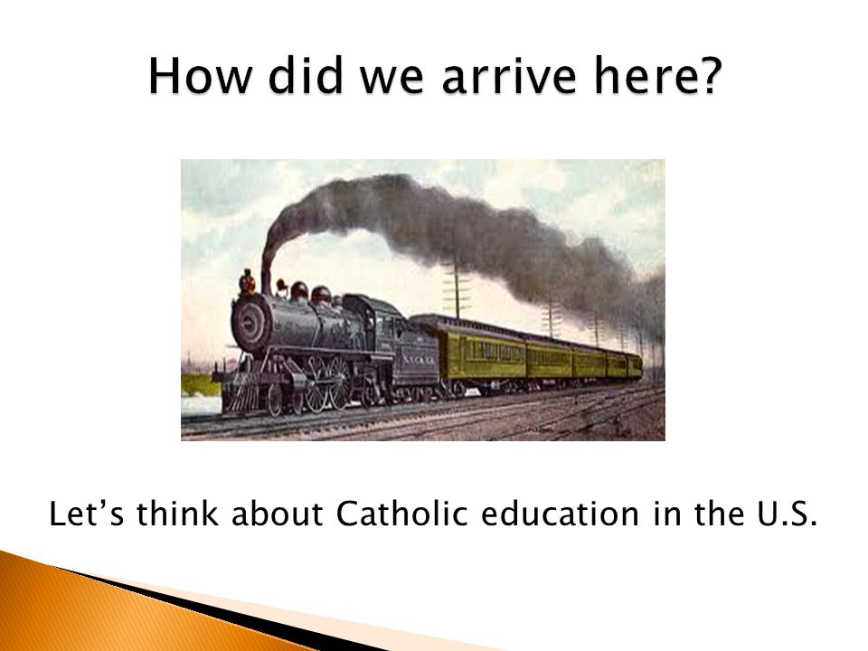 Let's think about Catholic education in the U.S.