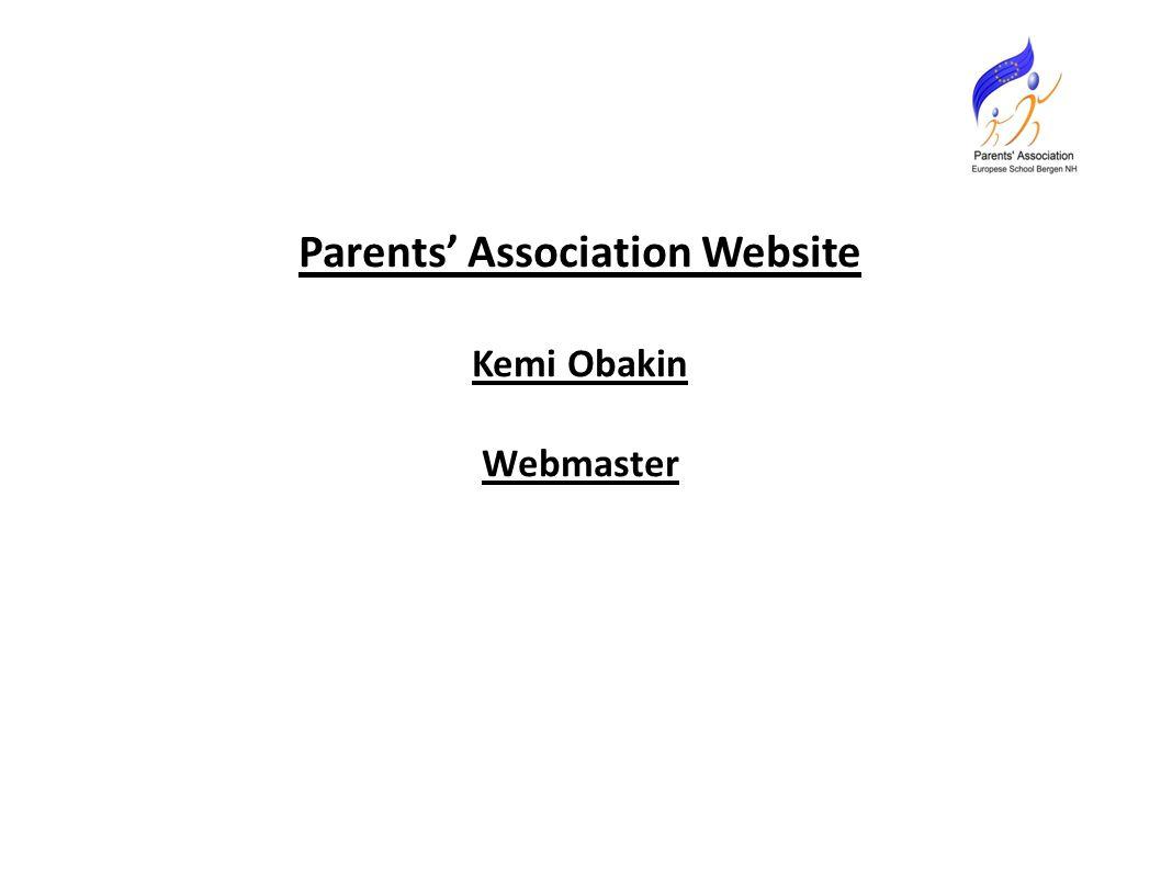 Parents' Association Website Kemi Obakin Webmaster