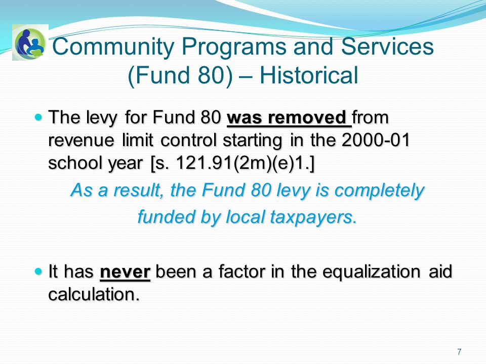 Administrative Rules PI-80 - Community Programs and Services The Department is required to define ineligible costs for Community Programs and Services by administrative rule.