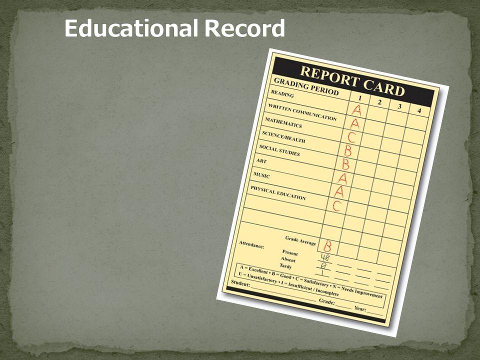 Education Records 20 U.S.C.