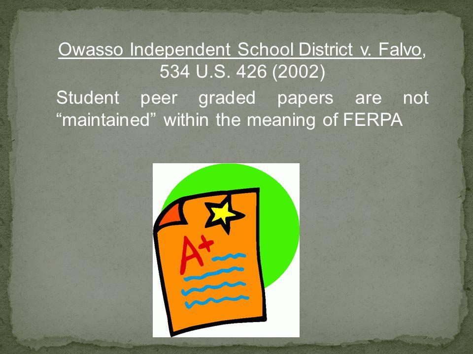 Owasso Independent School District v. Falvo, 534 U.S.