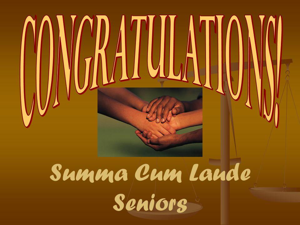 Summa Cum Laude Seniors