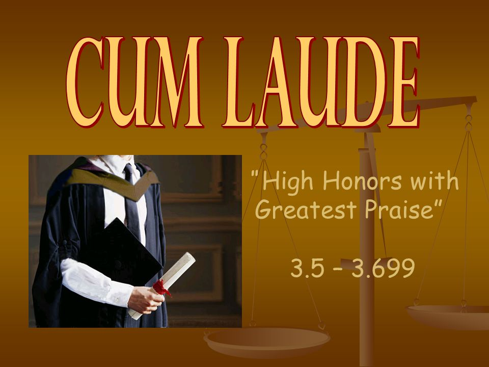 High Honors with Greatest Praise 3.5 – 3.699