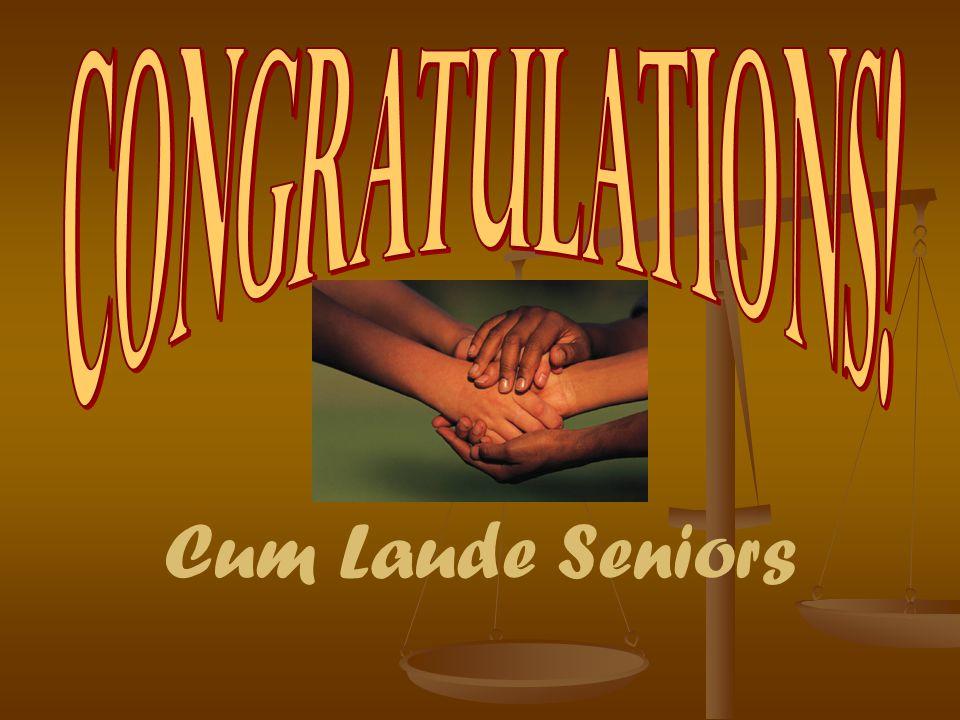 Cum Laude Seniors