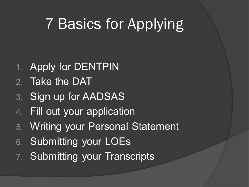 Step 1 Register for a DENTPIN http://www.ada.org/1225.aspx